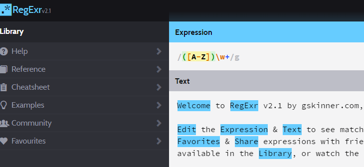 RegEx Online Tool