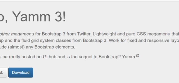 Megamenu Library for Bootstrap