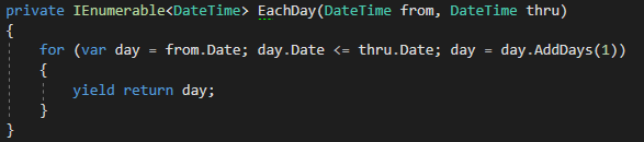 Iterate Through a Date Range.